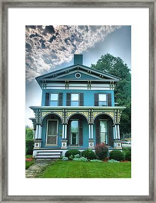 Blue Green House I Framed Print