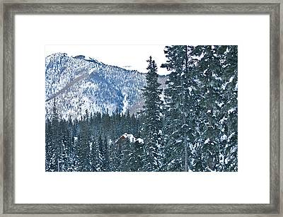Blue Green Mountain Framed Print