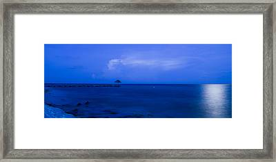 Blue Framed Print by Guillermo Luengas