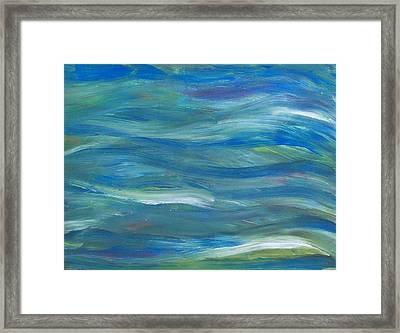 Blue Harmony Framed Print by Jeanette Stewart