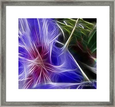 Blue Hibiscus Fractal Panel 1 Framed Print