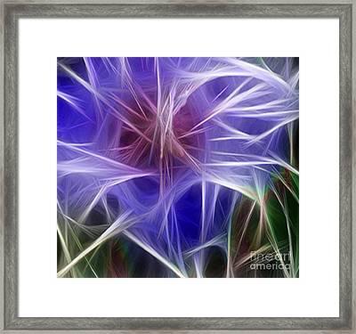 Blue Hibiscus Fractal Panel 5 Framed Print