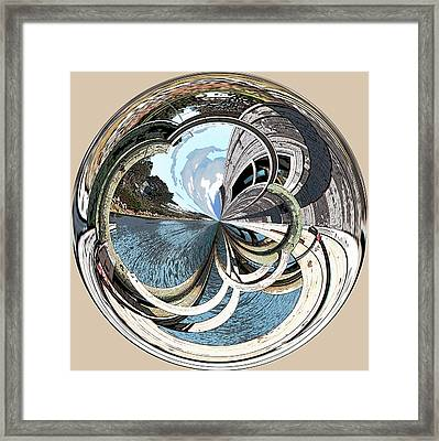 Blue Hill Maine Cove Orb Framed Print