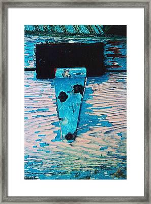 Blue Hinge Framed Print by Bob Whitt