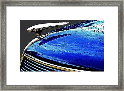 Blue Hood Framed Print