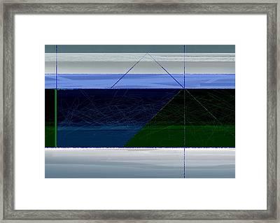 Blue Horizon Framed Print by Naxart Studio