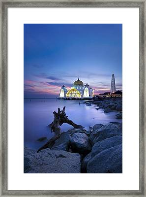 Blue Hour At The Mosque Framed Print by Ng Hock How