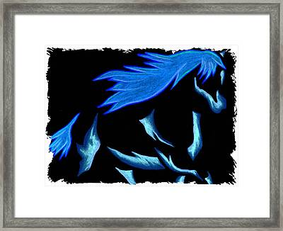 Blue Ice Flows Over Adobe Dance Framed Print