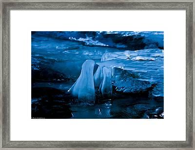 Blue Ice Framed Print by Mitch Shindelbower