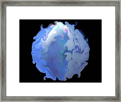 Blue Ice Framed Print by Yvette Pichette