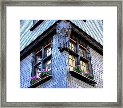 Blue In The Morning Framed Print by Anne Gordon