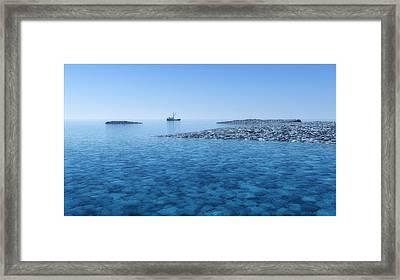 Framed Print featuring the digital art Blue Infinity... by Tim Fillingim