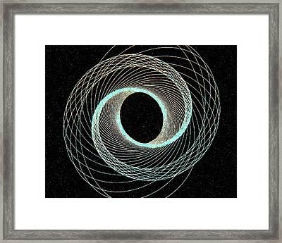 Blue Inner Circle Framed Print by James Steele