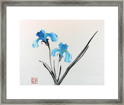 Blue Iris I Framed Print by Yolanda Koh