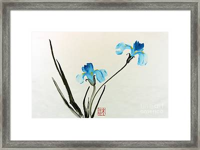 blue iris II Framed Print by Yolanda Koh