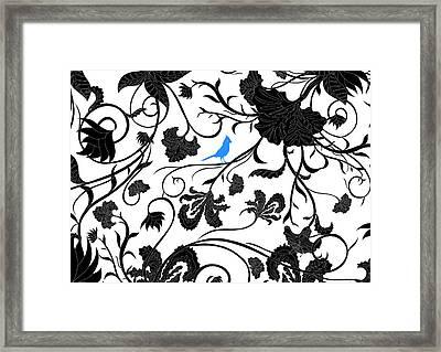 Blue J Framed Print