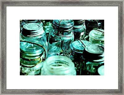 Blue Jars I Framed Print by Laurianna Murray