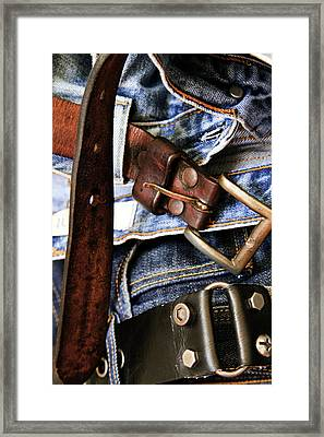 Blue Jeans Framed Print
