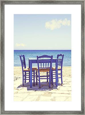 Blue Framed Print by Joana Kruse