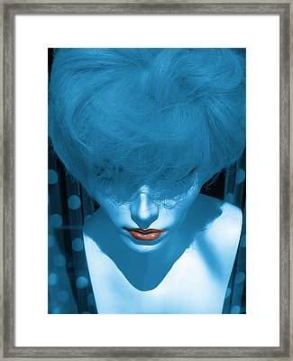 Blue Kiss Framed Print
