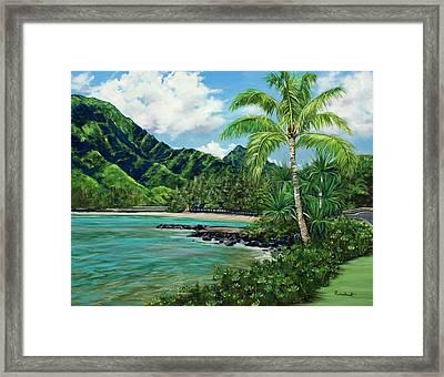 Blue Lagoon Framed Print by Lisa Reinhardt