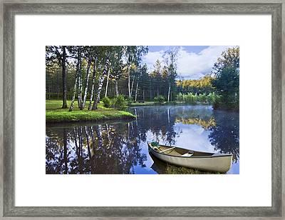 Blue Lake Framed Print by Debra and Dave Vanderlaan