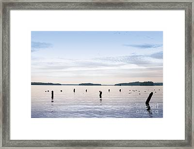Framed Print featuring the photograph Blue Lake Muskoka by Les Palenik