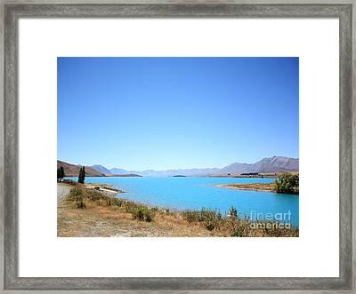 Blue Lake  Framed Print by Pixel Chimp
