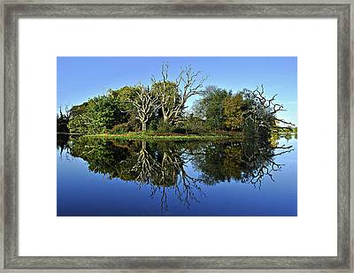 Blue Lake Reflections Framed Print