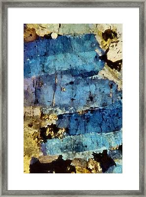 Blue Layers Of The Mind Framed Print by Gun Legler