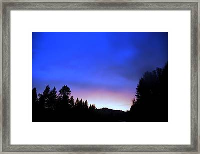 Blue Lightning Framed Print by Don Mann