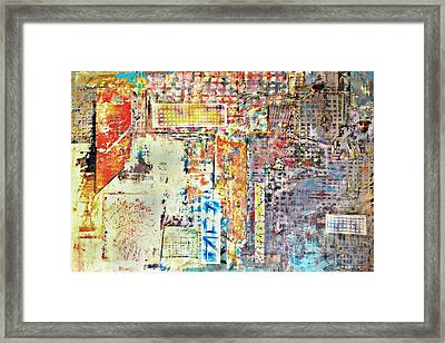 Blue Lights In The City Tonight. Framed Print