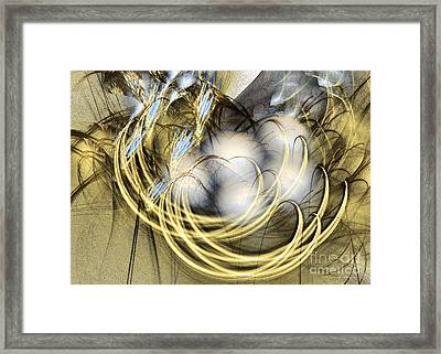 Blue Lullaby - Fractal Art Framed Print by Sipo Liimatainen