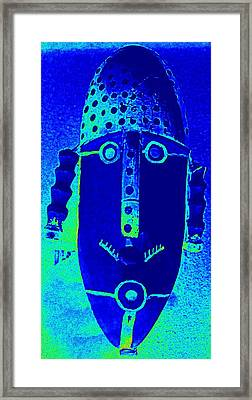 Blue Man Ungrouped Framed Print by Randall Weidner