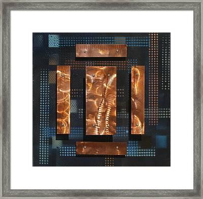 Blue Metal 4 Framed Print by James Johnson