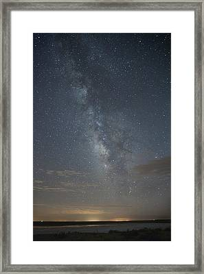 Blue Milky Way Framed Print