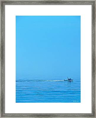 Blue Monday Framed Print by Brian D Meredith