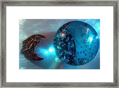 Blue Moon 1 Framed Print by Maria Evangelatou