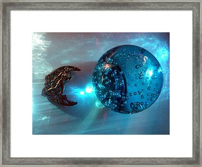 Blue Moon 2 Framed Print by Maria Evangelatou