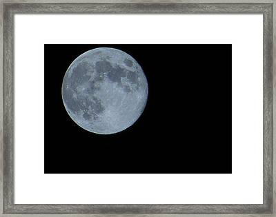 Blue Moon 8 31 12 Framed Print