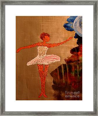 Framed Print featuring the painting Blue Moon Balerina by Ayasha Loya