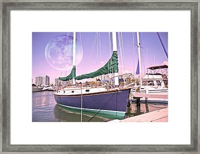 Blue Moon Harbor II Framed Print by Betsy Knapp