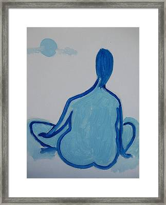Blue Moon Framed Print by Jay Manne-Crusoe