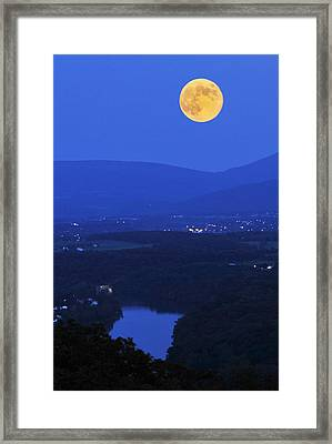 Blue Moon Framed Print by Lara Ellis