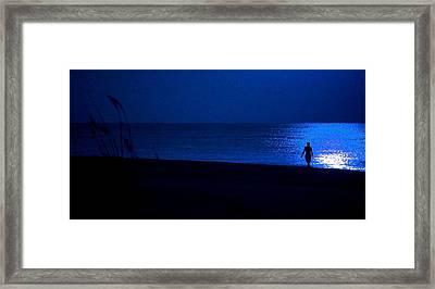 Blue Moon Framed Print by Michael Thomas
