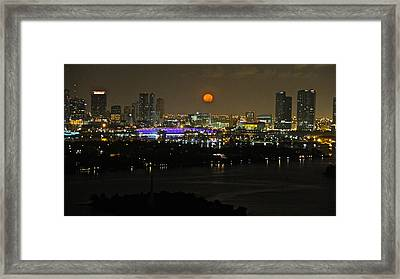 Blue Moon Over Miami Framed Print by Ronald  Bell