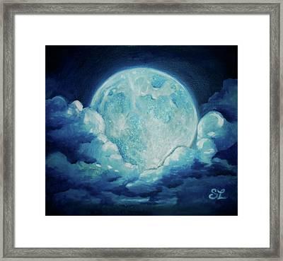 Blue Moon Framed Print by Sarah Lonthier