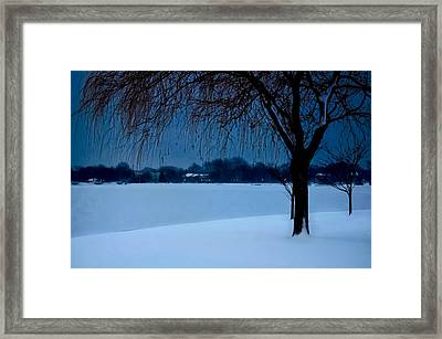 Blue Morning At Argyle Framed Print