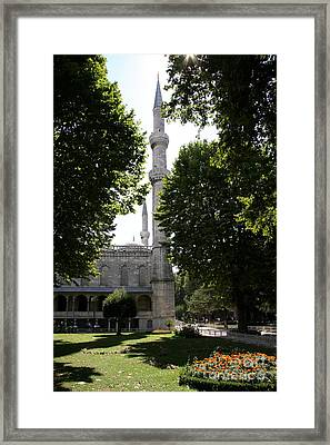 Blue Mosque - Istanbul Framed Print by Christiane Schulze Art And Photography