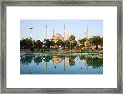 Blue Mosque At Dawn Framed Print by Artur Bogacki
